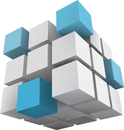 3-dimensional view of a cube